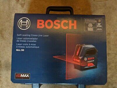 Bosch Model Gll50 50 Ft. Self-leveling Cross-line Laser Level New