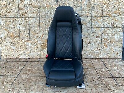 BENTLEY CONTINENTAL GT (04-10) FRONT LEFT DRIVER COMPLETE SEAT LEATHER BLACK OEM