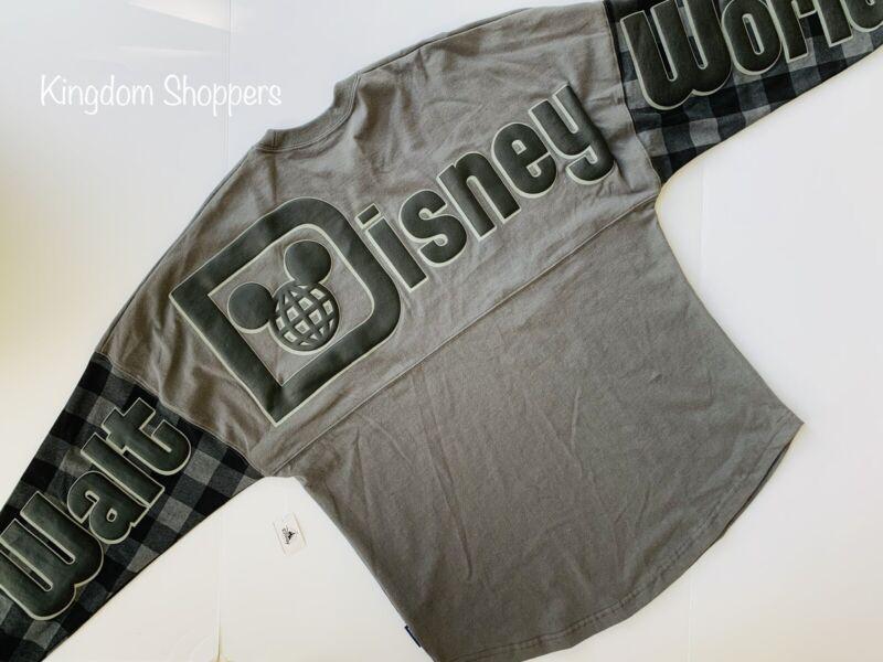 2021 Walt Disney World Parks Black Buffalo Plaid Mickey Spirit Jersey XXL 2XL