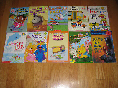 Lot 10 Scholastic Beginning Reading Level 1 -Early Readers Free (Free Beginning Reading Books)