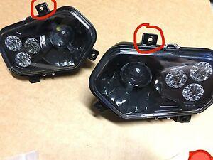 11-14 POLARIS RZR 800 NEW BLACK LED CONVERSION HEADLIGHTS KIT  900 XP STYLE!