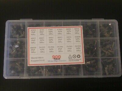 900pcs 18 Types Mixed Transistors Electronic Components Assortment Transistor
