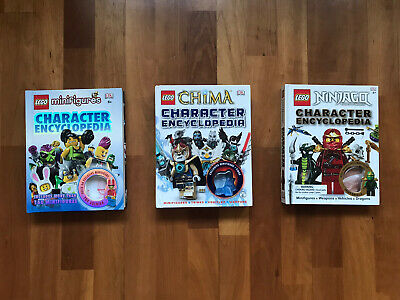 (3) LEGO CHARACTER ENCYCLOPEDIA SERIES CHIMA NINJAGO Minifigures **No Figurines*