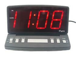 Elgin Large Display Alarm Clock With Adjustable Face