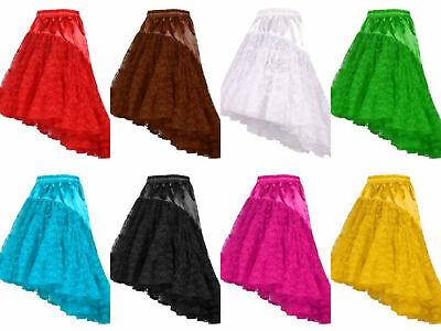 langer Tüllrock edel Damen Petticoat Cosplay Rock Spitzenrock Karneval - Spitze Langer Rock Kostüm