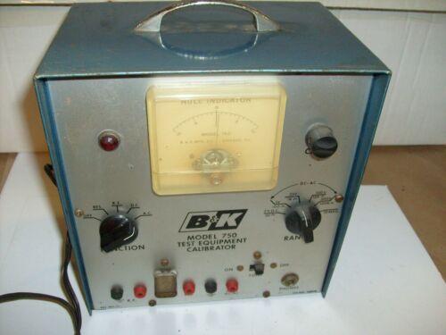 B&K Model 750 Test Equipment Calibrator - Null Indicator Meter