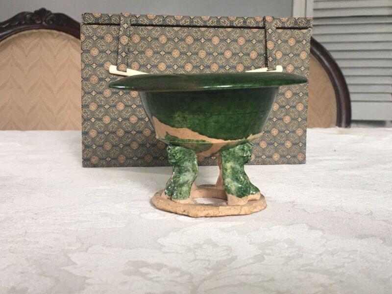 Tang Dynasty green glazed incense burner