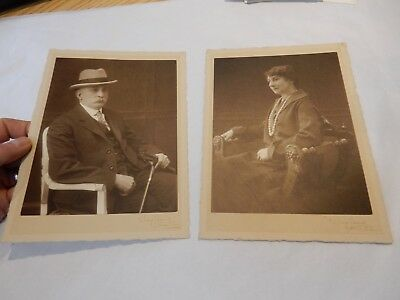 ART DECO PORTRAIT PAIR   BY WAYLAND  OF STREATHAM    WHO ARE THEY  ??
