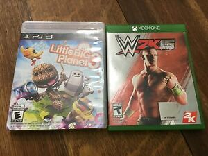 Little big planet 3 for the PS3 and WWE 2015for Xbox 1.