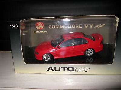 AUTOart BIANTE 1/43 HOLDEN VY SS COMMODORE RED HOT OLD SHOP STOCK #53527