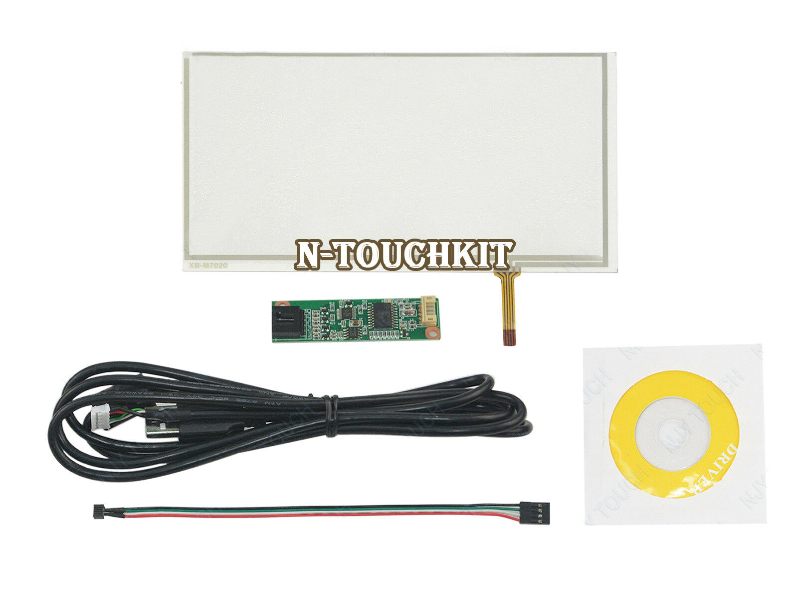 7inch 4 Wire Resistive Touch Screen Panel with USB Controller kit For TM070RDH01