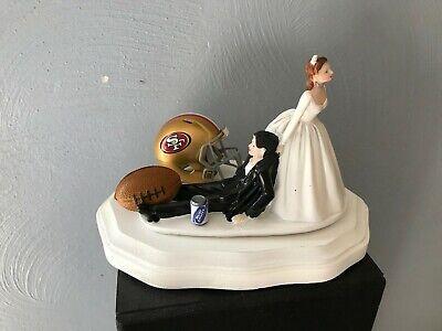 San Francisco 49ers Cake Topper Bride Groom Wedding Day Funny Football Theme ](49ers Theme)