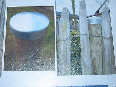 10 Pfostenkappe 75 mm Innendurchmesser für Rundpfosten aus Aluminium ()