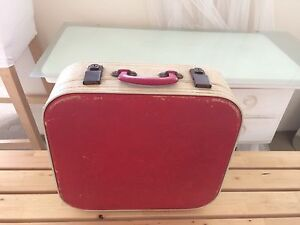 Beautiful vintage red suitcase Bronte Eastern Suburbs Preview