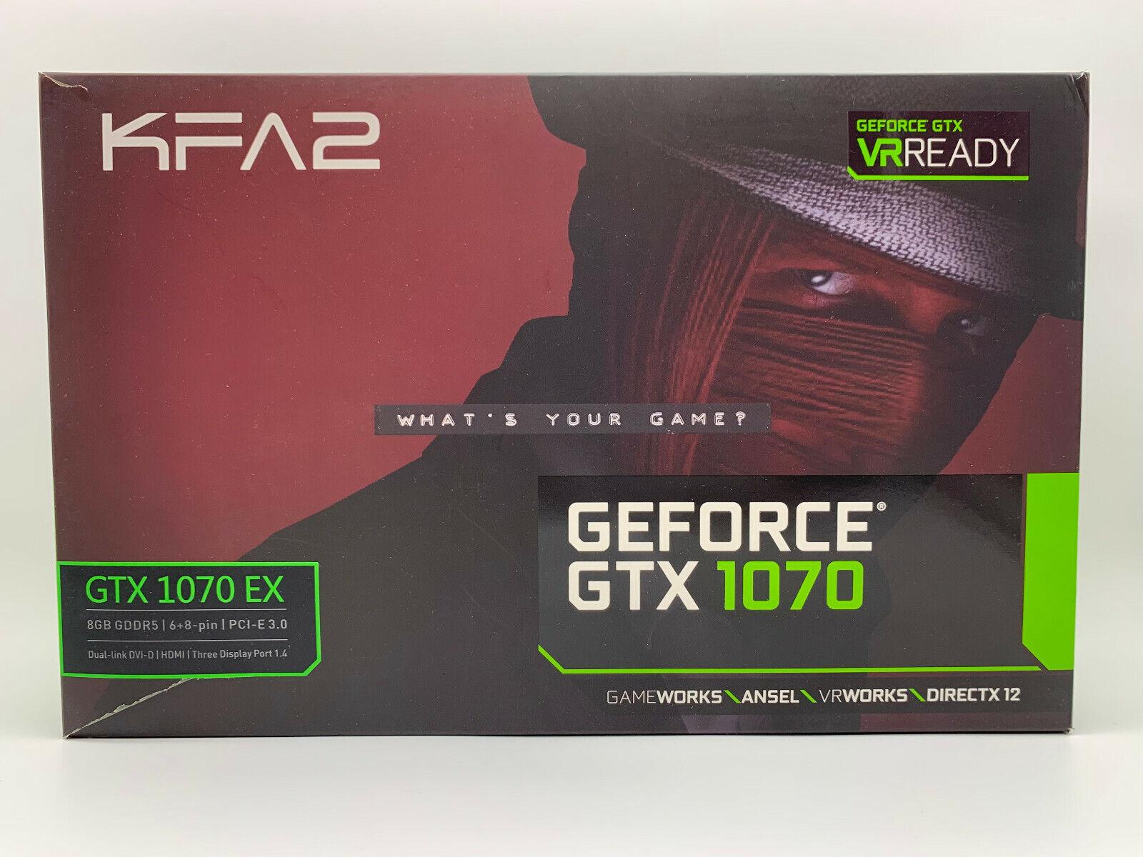 KFA2 GeForce GTX 1070 EX OC 8GB   Grafikkarte   Sehr guter Zustand   in OVP