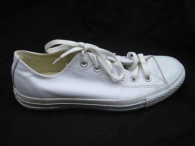 Converse white leather sneakers womens ladies tennis shoes 9.5M 1T866