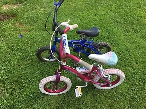 """Boy and girl 12 1/2"""" tire size bikes"""
