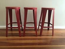 3 x industrial style bar stools Hunters Hill Hunters Hill Area Preview