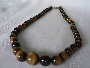 Tigers Eye polished bead necklace - Brisbane/Ipswich pick up Archerfield Brisbane South West Preview