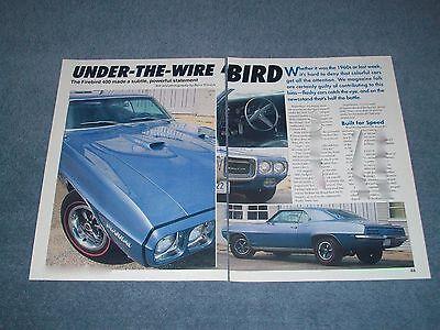 """1969 Pontiac Firebird 400 Article """"Under-The-Wire 'Bird"""""""