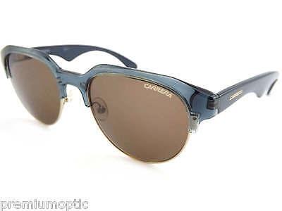 Carrera 6001 Estilo Retro Gafas de Sol Cristal Gris Azul Oro Rims...