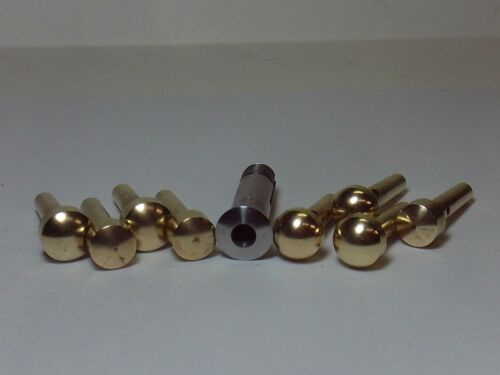 LEVIN WATCHMAKERS LATHE COLLET TAPER BS-1, 10MM-D,  AND BRASS WAX TOOLS