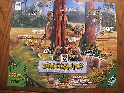 Pizza Hut Placemat Trayliner - Dinosaurs! - 1993