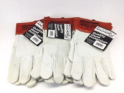 X3 Best Welds Capeskin Tig Welding Gloves Medium Whitered - 3 Pairs