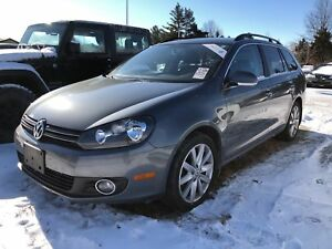2013 Volkswagen Golf Wagon TDI/Highline/LEATHER/MOONROOF/HEATED