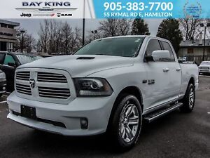 2017 Ram 1500 SPORT QUAD CAB 4x4, NAV, HEATED SEATS, BLUETOOTH,