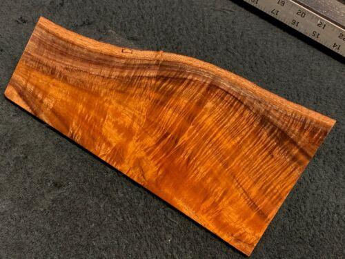 """MASTER GRADE Hawaiian Curly Koa Billet Wood:  10"""" x (4.875"""" to 2.875"""") x 0.5"""""""