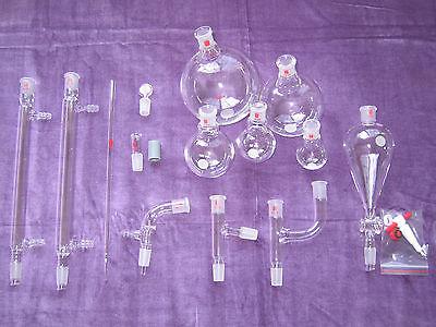 Kemtech America Organic Chemistry Lab Glassware Kit Bonus 1420 28