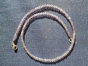 Exklusive Amethyst Halskette, Collier, facettiert, 46 cm, 925 Silber