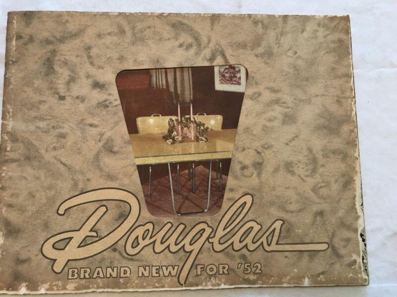 1952 DOUGLAS Chrome Dinettes Vintage Catalog, Great Information