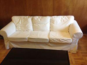 Canapé blanc Ektorp Ikea