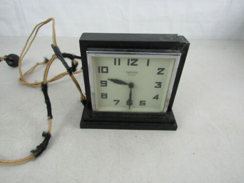 Vintage 1930s Art Deco Twin Face Electric Clock-Inoperative-For Parts Or Repair