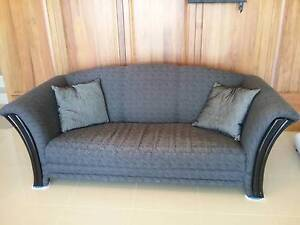 Black low sofa Port Lincoln Port Lincoln Area Preview
