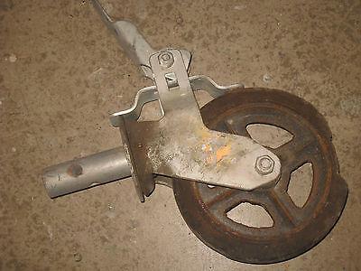 Scaffold Wheel 8x2 Dense Hard Rubber Steel Hub Heavy Duty Lockable Brake 21l3