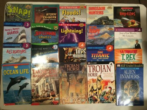 SCIENCE Lot Level 3 4  STEP INTO READING Hello Reader HISTORY Animals lot of 20