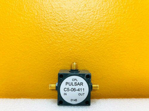 Pulsar C5-06-411 0.5 to 500 MHz 30 dB SMA (F) Directional Coupler. Tested!