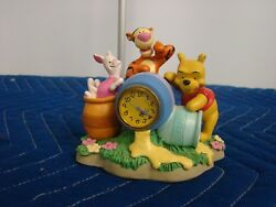 Disney WINNIE The POOH TIGGER AND PIGLET HONEY POT DESK CLOCK