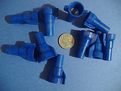 Lot Of 10 Large Blue Wing Wire Connectors Twist Conical Nut Nuts