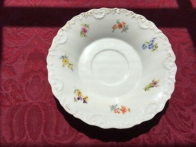 Meissen Flowered Signed Under Plate