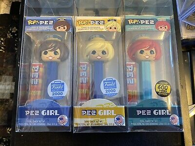 Funko Pop! Pez Red Hair Girl - 600 Piece Limited Edition Plus other Pez Girls