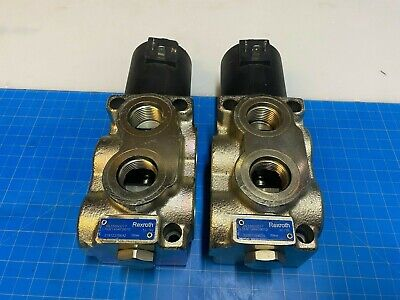 Qty. 2 Bosch Rexroth Oil Control Hydraulic Valve Flow Control R933000017