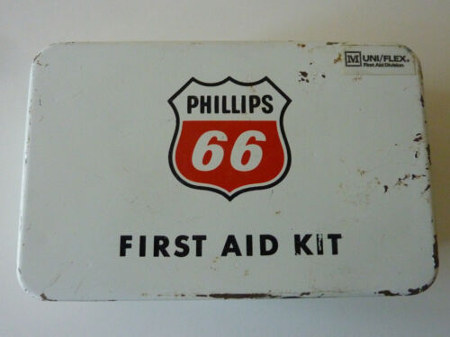 Phillips 66 Vintage First Aid Kit is Full