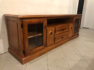 Excellent quality solid wooden big TV unit with drawers metal runners