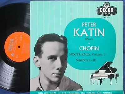 Peter Katin - Chopin - Nocturnes Volume 1 Decca Records  LXT 5122 Mono Vinyl LP