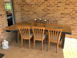 Dining table six chairs