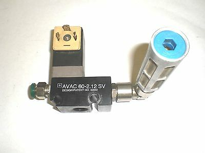 Pnuematic Vacuum Generator Wburkert Solenoid Avac 60-2.12sv Wmuffler And Cable